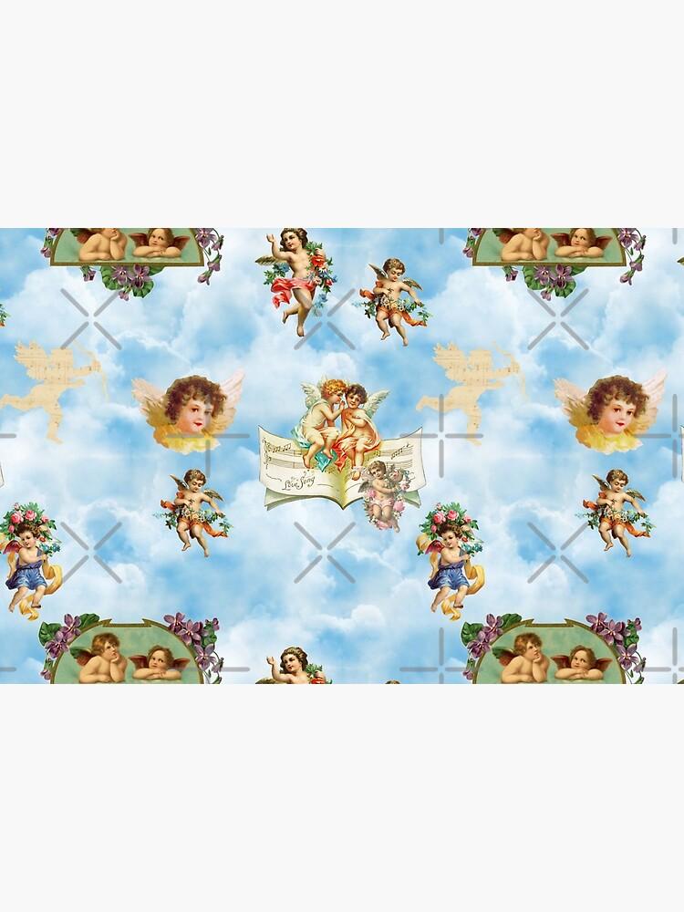 clouds angel cherubs by gossiprag