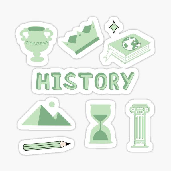 Light Green History School Subject Sticker Pack Sticker