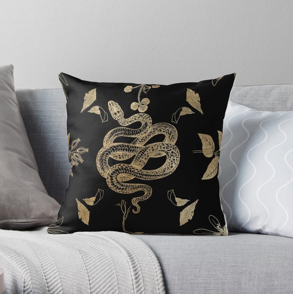 Exotic Night Jungle Throw Pillow