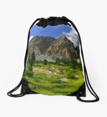 Lagazuoi in the afternoons  Drawstring Bag