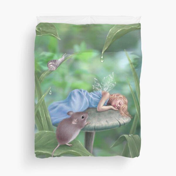 Sweet Dreams Sleeping Fairy & Mouse Duvet Cover