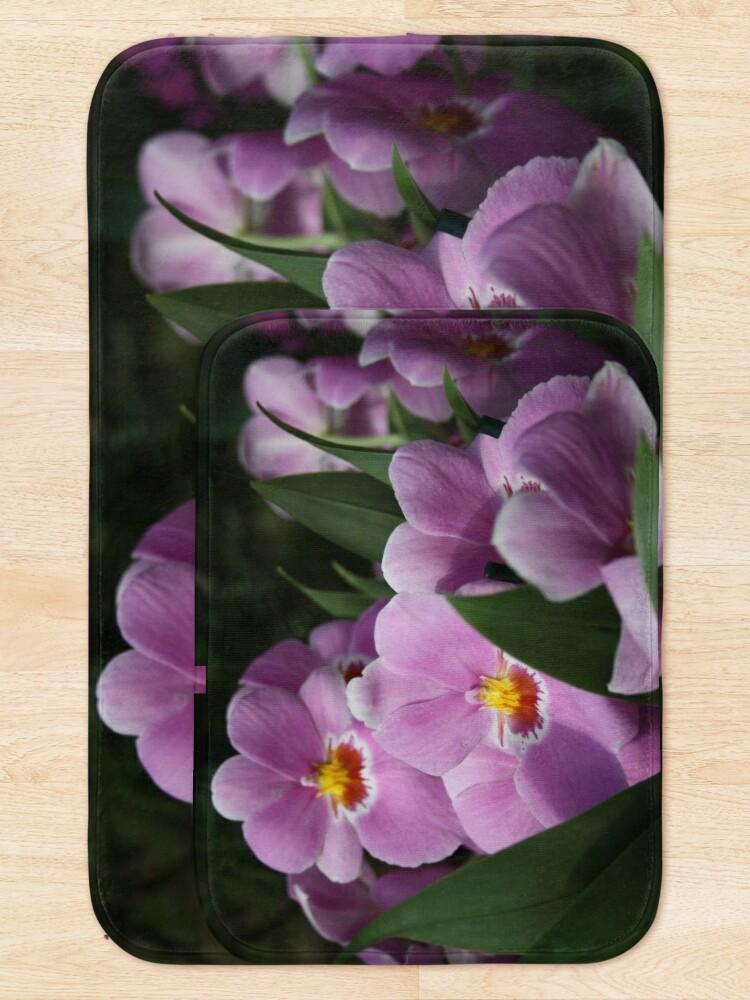 Alternate view of Tropical Flowers Orchids Bath Mat
