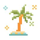 8bit Palm Tree by Kostas Sintakis