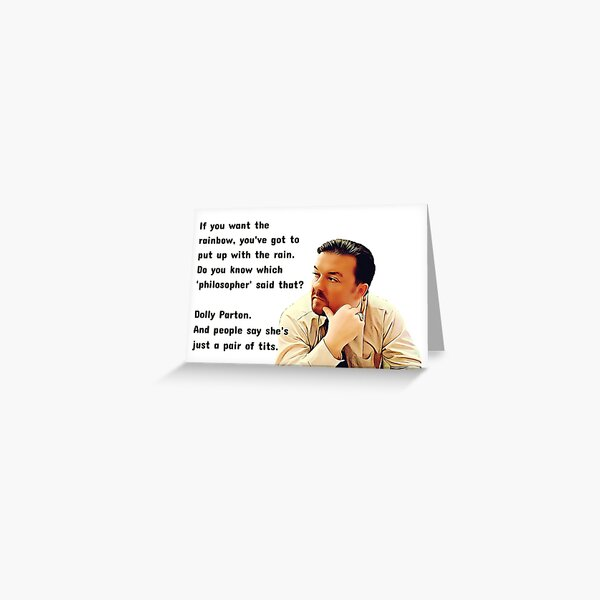 David Brent Quote, The Office UK Greeting Card