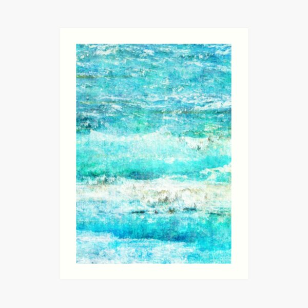 Ask the Waves II Art Print