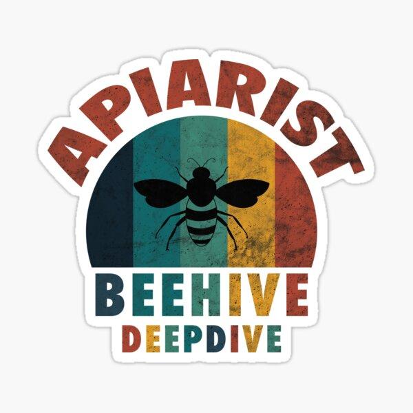 Imker Apiarist Lustiges Retro Bienen Geschenk Sticker