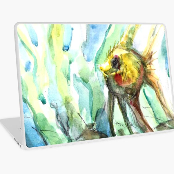 Swimming Like Fish - Curious Laptop Skin