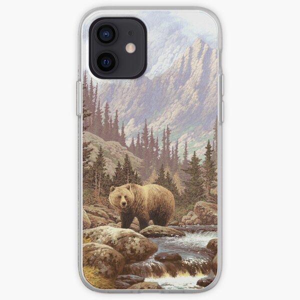 Grizzly Bear Landscape iPhone Soft Case