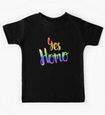 Ja, Homo Kinder T-Shirt