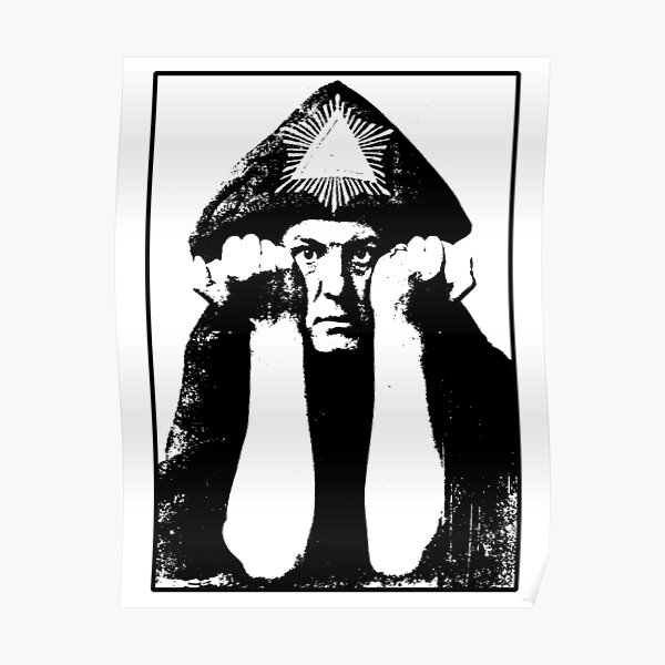 Aleister Crowley Poster