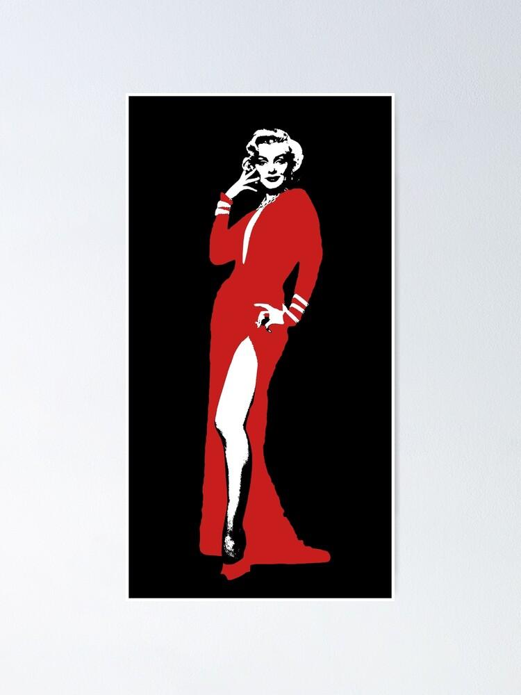 Marilyn Monroe en robe rouge photo imprimé sur encadrée Toile Wall Art