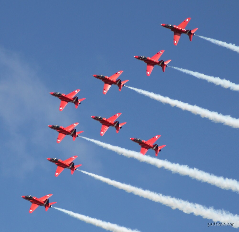 The Red Arrows - Wings & Wheels Dunsfold Surrey 2010 by pathseeker