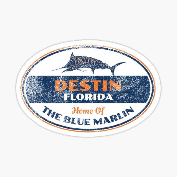 VINTAGE DESTIN FLORIDA BLUE MARLIN Sticker