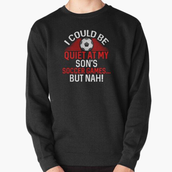 Soccer Mom Dad Loud Proud Team Player Heart Field design Pullover Sweatshirt