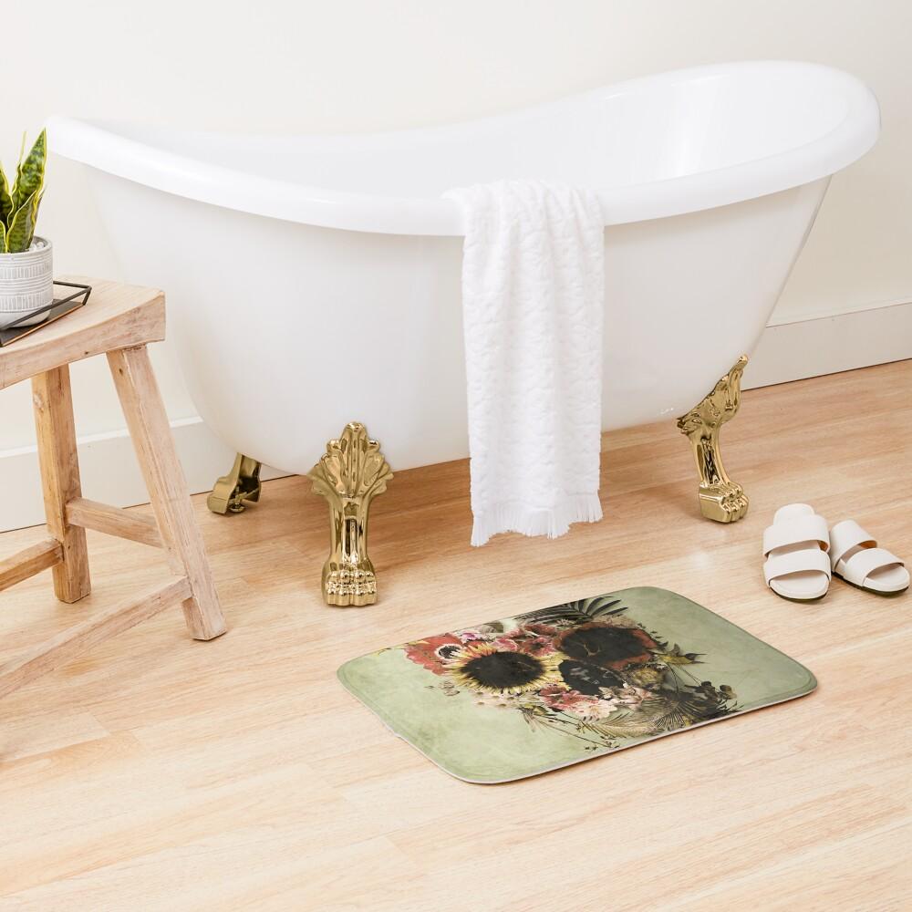 Garden Skull Light Bath Mat