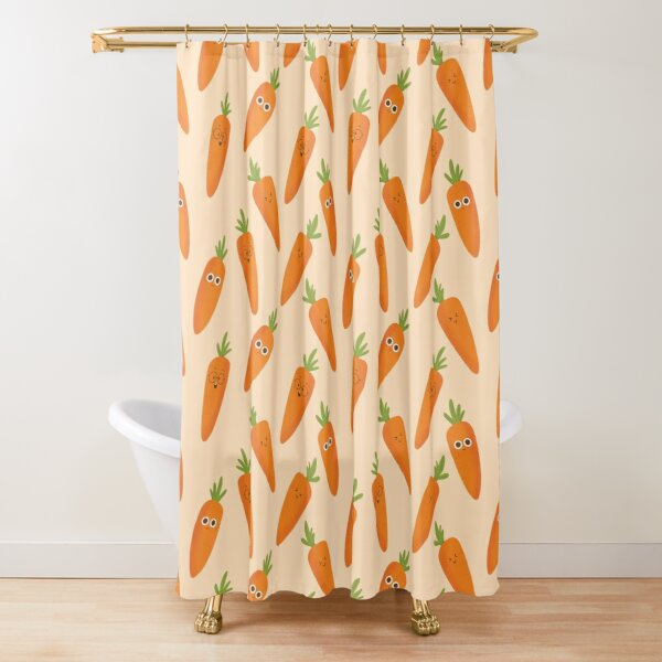 Happy Carrots Shower Curtain