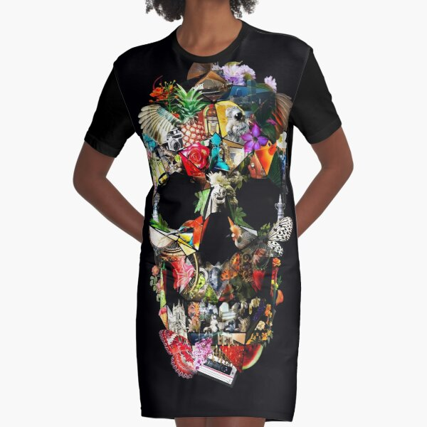 Fragile Skull 2 Graphic T-Shirt Dress