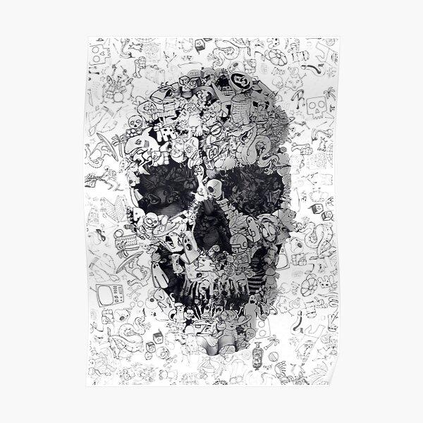 Doodle Skull Poster