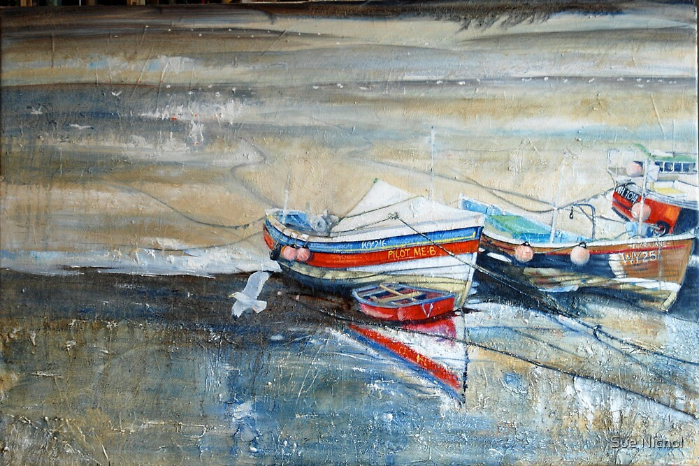 Safe Harbour, Staithes by Sue Nichol