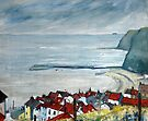 Red Roof tops, Staithes by Sue Nichol