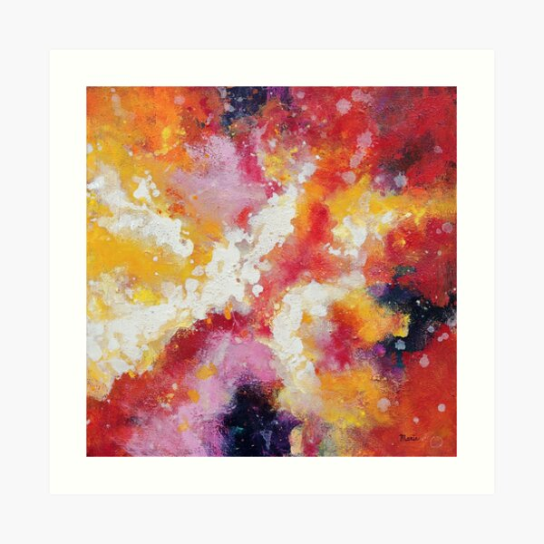 Abstract painting by Maria Meester Art Print