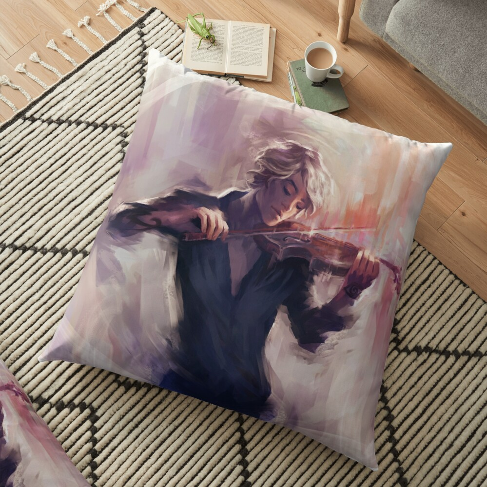 Violin and James Carstairs Floor Pillow