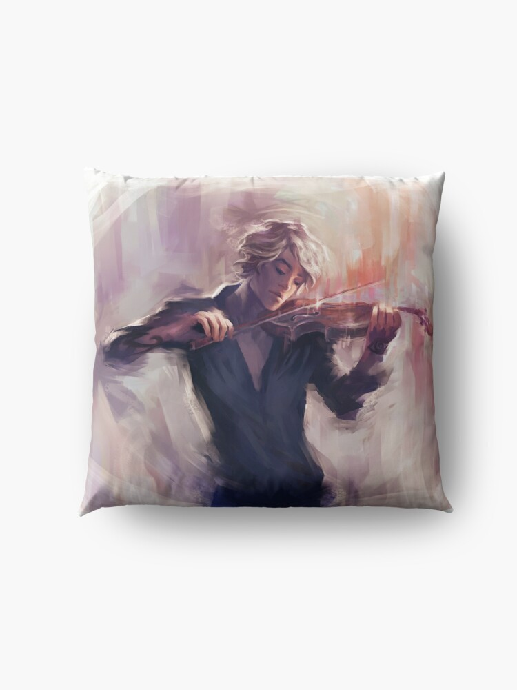 Alternate view of Violin and James Carstairs Floor Pillow