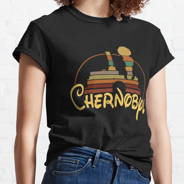 T Chernobyl Fantasy Logo RBMK Roentgen Not Great Not Terrible Nuclear Power Liquidator Station Roentgen Radiation AMZ Classic T-Shirt