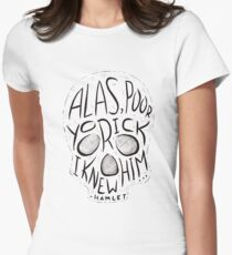 Alas, Poor Yorick Womens Fitted T-Shirt