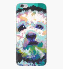 Pudel-Maltipoo Hund Helle bunte Pop-Hundekunst iPhone-Hülle & Cover
