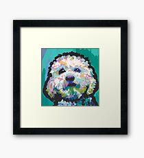 Poodle Maltipoo Dog Bright colorful pop dog art Framed Print