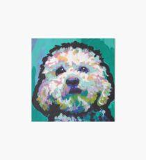 Poodle Maltipoo Dog Bright colorful pop dog art Art Board