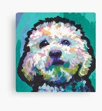 Poodle Maltipoo Dog Bright colorful pop dog art Canvas Print
