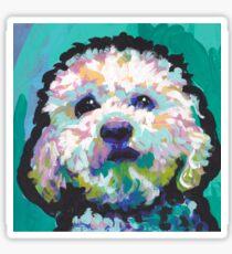 Poodle Maltipoo Dog Bright colorful pop dog art Sticker