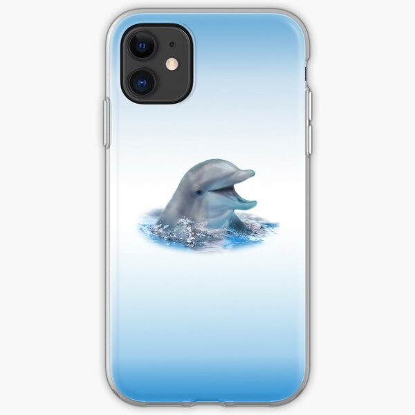 Happy Dolphin iPhone Soft Case