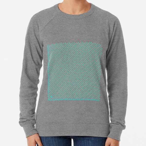 Op art - art movement, short for optical art, is a style of visual art that uses optical illusions Lightweight Sweatshirt