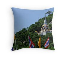 Hillside Temple Throw Pillow