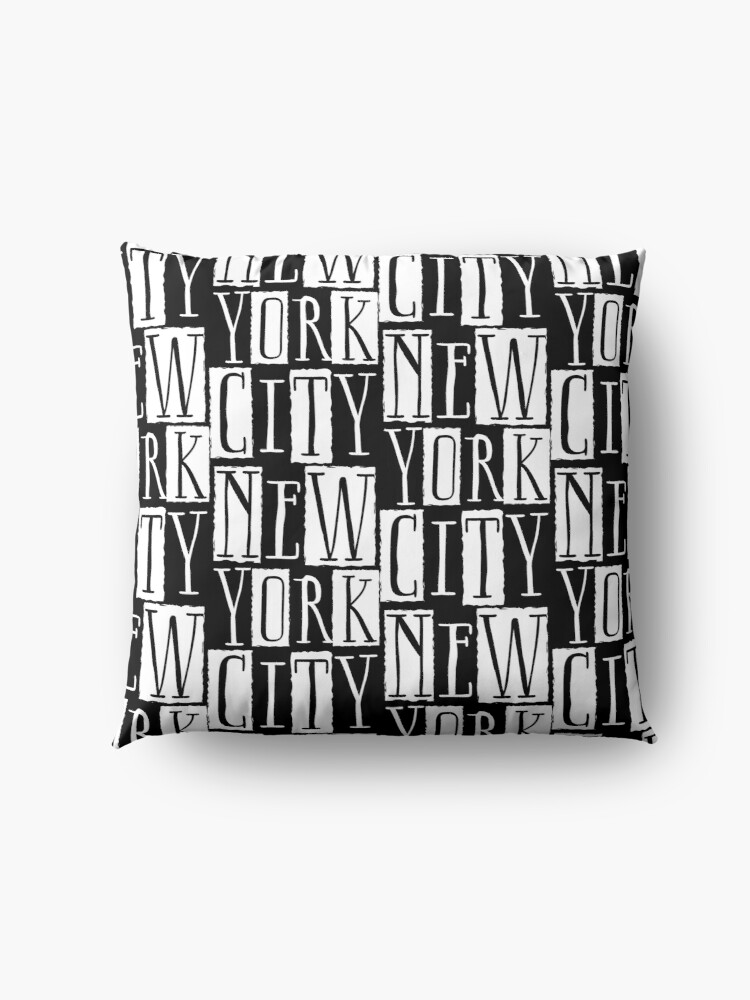 Alternate view of New York City Funky Modern Design Floor Pillow