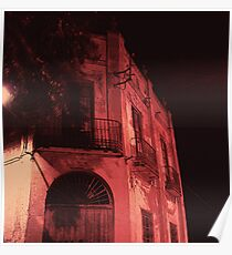 Abandoned house at night - Casa abandonada por la noche Poster