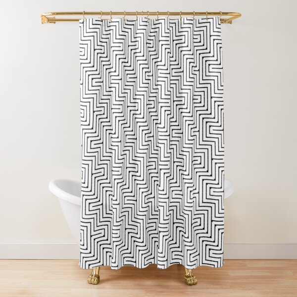 #Op #art - art movement, short for optical art, is a style of visual art that uses optical illusions #OpArt #OpticalArt Shower Curtain