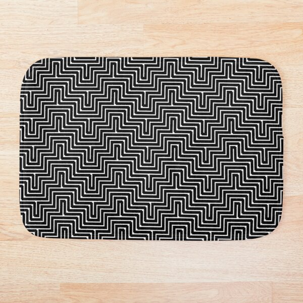 #Op #art - art movement, short for optical art, is a style of visual art that uses optical illusions #OpArt #OpticalArt Bath Mat