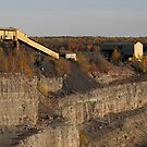 Abandoned Open  Iron Ore Mine Pit and Buildings- Marmora Ontario Canada. by Tracy Wazny