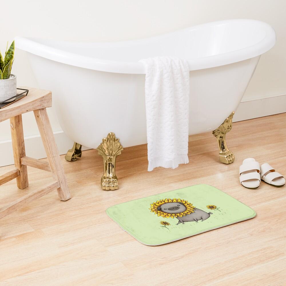 Pugflower Bath Mat