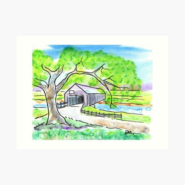 Covered Bridge Avonport Nova Scotia Art Print