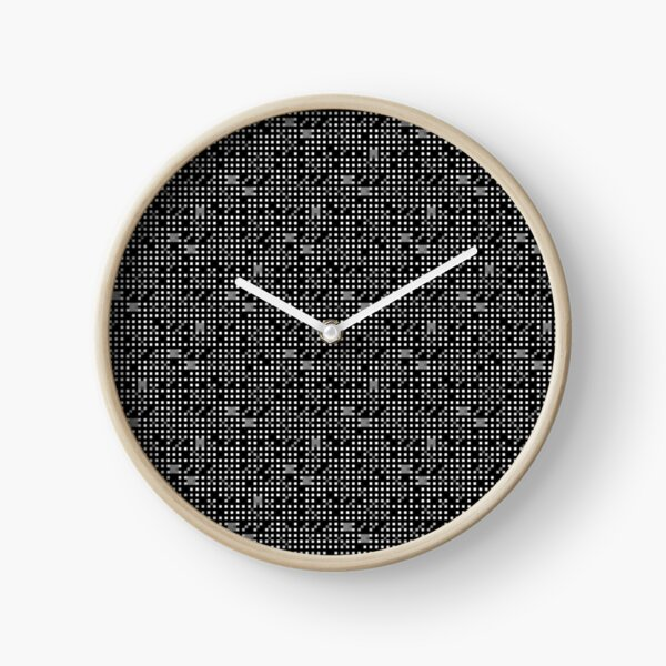 #Op #art - art movement, short for optical art, is a style of visual art that uses optical illusions #OpArt #OpticalArt Clock
