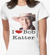 I heart Bob Katter Women's Fitted T-Shirt