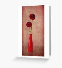 Rosso Greeting Card