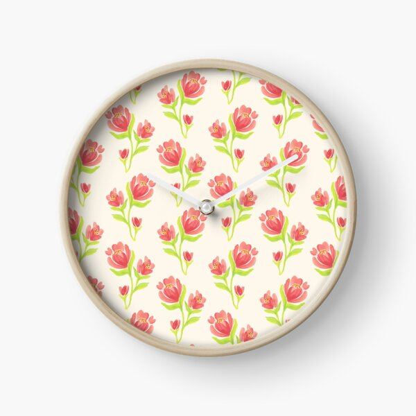 Pretty Flower Blossom Clock