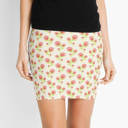 Pretty Flower Blossom Mini Skirt