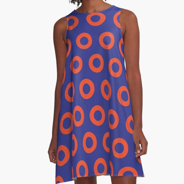 Jon Fishman - Phish Drummer Small Red Circle Print A-Line Dress